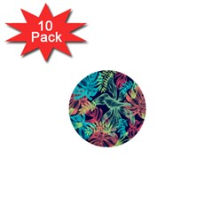 Leaves Tropical Picture Plant 1  Mini Buttons (10 Pack)