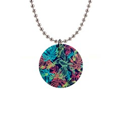 Leaves Tropical Picture Plant Button Necklaces