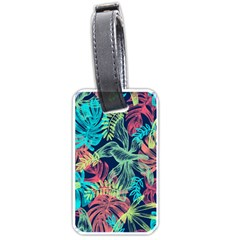 Leaves Tropical Picture Plant Luggage Tags (one Side)  by Sapixe