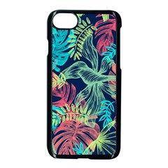 Leaves Tropical Picture Plant Apple Iphone 8 Seamless Case (black) by Sapixe