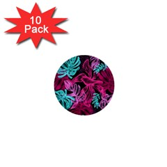 Leaves Drawing Reason Pattern 1  Mini Buttons (10 Pack)