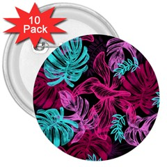 Leaves Drawing Reason Pattern 3  Buttons (10 Pack)