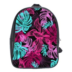 Leaves Drawing Reason Pattern School Bag (large) by Sapixe