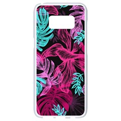 Leaves Drawing Reason Pattern Samsung Galaxy S8 White Seamless Case