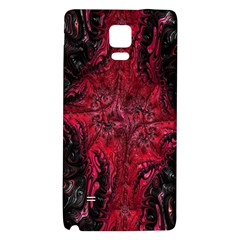 Wgt Fractal Red Black Pattern Samsung Note 4 Hardshell Back Case