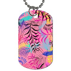 Illustration Reason Leaves Design Dog Tag (one Side) by Sapixe