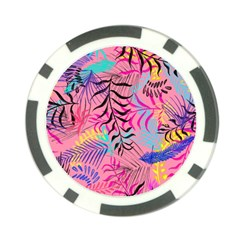 Illustration Reason Leaves Design Poker Chip Card Guard by Sapixe