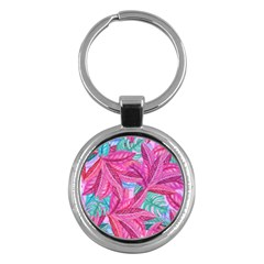 Leaves Tropical Reason Stamping Key Chains (round)