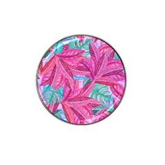Leaves Tropical Reason Stamping Hat Clip Ball Marker (4 Pack)