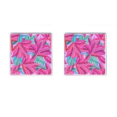 Leaves Tropical Reason Stamping Cufflinks (square) by Sapixe