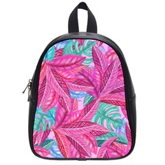Leaves Tropical Reason Stamping School Bag (small) by Sapixe