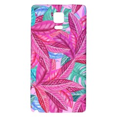 Leaves Tropical Reason Stamping Samsung Note 4 Hardshell Back Case