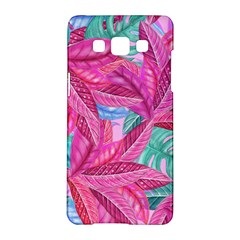Leaves Tropical Reason Stamping Samsung Galaxy A5 Hardshell Case