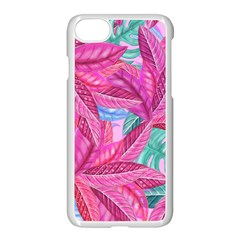 Leaves Tropical Reason Stamping Apple Iphone 7 Seamless Case (white) by Sapixe