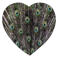 Background Peacock Feathers Jigsaw Puzzle (heart) by Sapixe