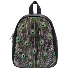 Background Peacock Feathers School Bag (small) by Sapixe