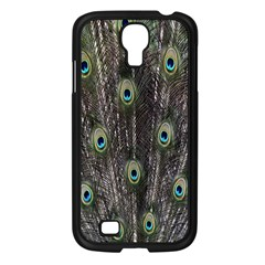 Background Peacock Feathers Samsung Galaxy S4 I9500/ I9505 Case (black)