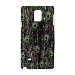 Background Peacock Feathers Samsung Galaxy Note 4 Hardshell Case by Sapixe