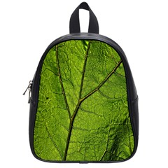 Butterbur Leaf Plant Veins Pattern School Bag (small) by Sapixe