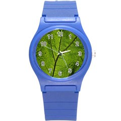 Butterbur Leaf Plant Veins Pattern Round Plastic Sport Watch (s)