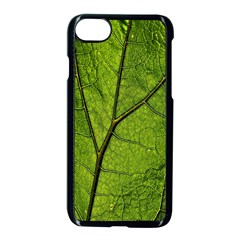 Butterbur Leaf Plant Veins Pattern Apple Iphone 8 Seamless Case (black) by Sapixe