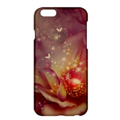 Wonderful Roses With Butterflies And Light Effects Apple Iphone 6 Plus/6s Plus Hardshell Case by FantasyWorld7