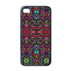 Color Maze Of Minds Apple Iphone 4 Case (black) by MRTACPANS