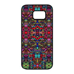 Color Maze Of Minds Samsung Galaxy S7 Edge Black Seamless Case