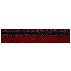 Crush Red Lace Two Patterns  Small Flano Scarf