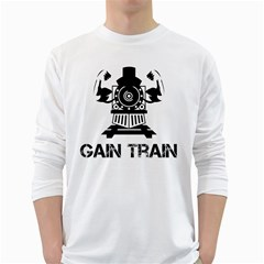 Gain Train Bodybuilding Fitness Powerlifting Weighlifting Long Sleeve T-shirt by powerliftingcheck