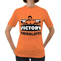Victory Bodybuilding Fitness Powerlifting Weighlifting Women s Dark T-shirt by powerliftingcheck