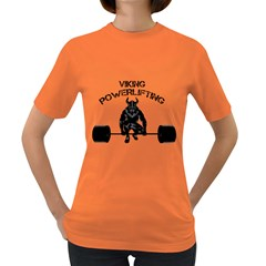 Viking Bodybuilding Fitness Powerlifting Weighlifting Women s Dark T-shirt by powerliftingcheck