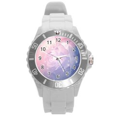 Wonderful Roses In Soft Colors Round Plastic Sport Watch (l) by FantasyWorld7