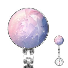 Wonderful Roses In Soft Colors Stainless Steel Nurses Watch by FantasyWorld7