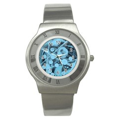 Atomic Blue Stainless Steel Watch