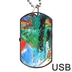 Garden  3 Dog Tag Usb Flash (one Side) by WILLBIRDWELL