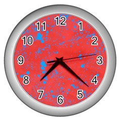 Blue Blood Wall Clock (silver)