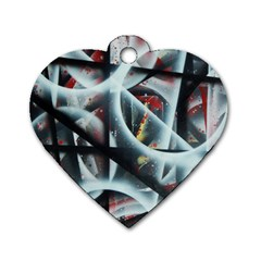 Oversight Dog Tag Heart (one Side)