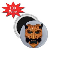 Mask India South Culture 1 75  Magnets (100 Pack)