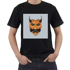 Mask India South Culture Men s T Shirt (black) (two Sided)