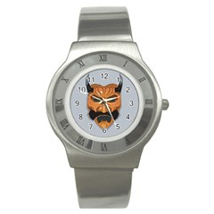 Mask India South Culture Stainless Steel Watch