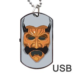 Mask India South Culture Dog Tag Usb Flash (one Side)