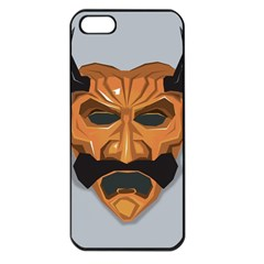 Mask India South Culture Apple Iphone 5 Seamless Case (black) by Samandel