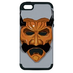 Mask India South Culture Apple Iphone 5 Hardshell Case (pc+silicone)