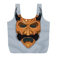 Mask India South Culture Full Print Recycle Bag (l)