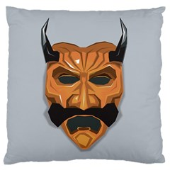 Mask India South Culture Large Flano Cushion Case (two Sides)