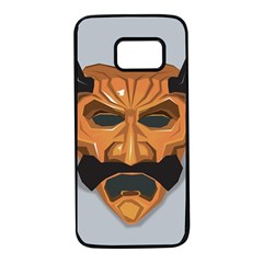 Mask India South Culture Samsung Galaxy S7 Black Seamless Case