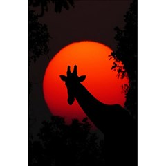 Giraffe Animal Africa Sunset 5 5  X 8 5  Notebook by Samandel