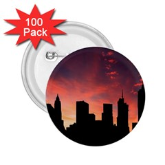 Skyline Panoramic City Architecture 2 25  Buttons (100 Pack)