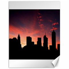 Skyline Panoramic City Architecture Canvas 12  X 16
